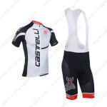 2013 Team CASTELLI Cycling Bib Kit Black Letter