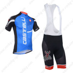 2013 Team CASTELLI Cycling Bib Kit Blue and Black