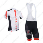 2013 Team CASTELLI Cycling Bib Kit White and Black