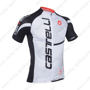2013 Team CASTELLI Cycling Jersey Black Letter