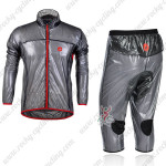 2013 Team CASTELLI Cycling Windbreaker Kit Black Waterproof