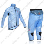 2013 Team CASTELLI Cycling Windbreaker Kit Blue Waterproof