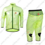 2013 Team CASTELLI Cycling Windbreaker Kit Green Waterproof