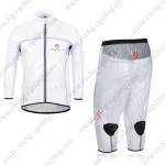 2013 Team CASTELLI Cycling Windbreaker Kit White Waterproof