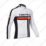 2013 Team CASTELLI Pro Bike Jersey Long Sleeve White