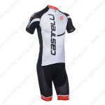 2013 Team CASTELLI Pro Bike Kit White Black