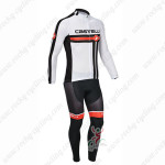 2013 Team CASTELLI Pro Cycling Jersey Long Sleeve Kit White