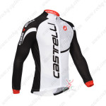 2013 Team CASTELLI Pro Cycling Long Sleeve Jersey White