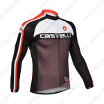 2013 Team CASTELLI Pro Cycling Long Sleeve Jersey White Black
