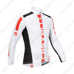 2013 Team CASTELLI Pro Cycling Long Sleeve Jersey White Red