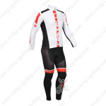 2013 Team CASTELLI Pro Cycling Long Sleeve Kit White Red