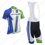 2013 Team Cannondale Cycling Bib Kit Blue White