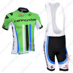 2013 Team Cannondale Cycling Bib Kit Green Black