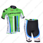 2013 Team Cannondale Cycling Kit Green Black