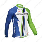 2013 Team Cannondale Cycling Long Jersey White Blue