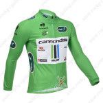 2013 Team Cannondale Pro Cycling Long Sleeve Green Jersey