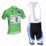 2013 Team Cannondale Tour de France Cycling Green Jersey Bib Shorts Kit