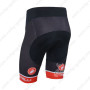 2013 Team Castelli Pro Bike Shorts Red and Black