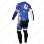 2013 Team FDJ Bicycle Long Kit Blue Black