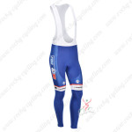 2013 Team FDJ Cycling Long Bib Pants Blue