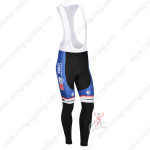 2013 Team FDJ Cycling Long Bib Pants Blue Black