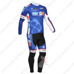 2013 Team FDJ Cycling Long Kit Blue Black