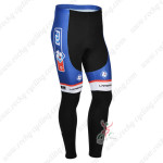 2013 Team FDJ Cycling Long Pants Blue Black