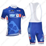 2013 Team FDJ Pro Cycling Bib Kit Blue