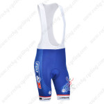 2013 Team FDJ Pro Cycling Bib Shorts Blue