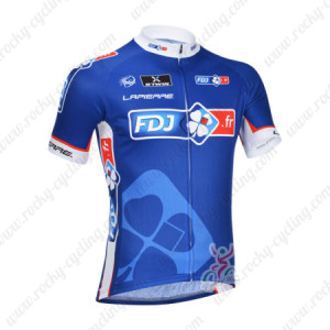 2013 Team FDJ Pro Cycling Jersey Blue