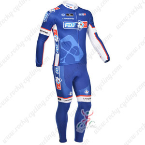 2013 Team FDJ Pro Cycling Long Kit Blue