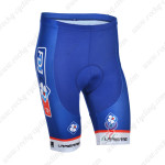 2013 Team FDJ Pro Cycling Shorts Blue
