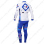2013 Team FDJ Riding Long Kit White Blue