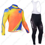 2013 Team FOX Pro Cycling Long Bib Kit Blue Yellow Orange
