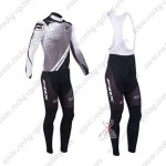2013 Team FOX Pro Cycling Long Bib Kit Grey