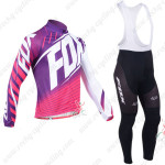 2013 Team FOX Pro Cycling Long Bib Kit Red Purple