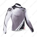 2013 Team FOX Pro Cycling Long Jersey Grey White