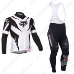 2013 Team FOX Pro Cycling Long Sleeve Bib Kit Black