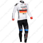 2013 Team GARMIN Cycle Long Kit White