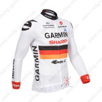 2013 Team GARMIN Cycling Long Jersey White