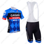 2013 Team GARMIN SHARP Cycle Short Bib Kit Blue
