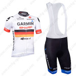 2013 Team GARMIN SHARP Cycling Bib Kit White