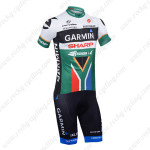 2013 Team GARMIN SHARP South African Champion Bike Kit Short Sleeve