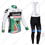 2013 Team GARMIN SHARP South African Champion Cycling Long Bib Kit Colorful