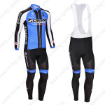 2013 Team GIANT Pro Cycling Long Bib Kit Black Blue