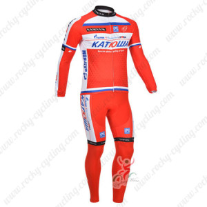 2013 Team KATUSHA Pro Cycle Kit Red