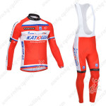 2013 Team KATUSHA Pro Cycling Long Bib Kit Red