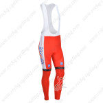 2013 Team KATUSHA Pro Cycling Long Bib Pants Red