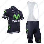 2013 Team Movistar Cycling Bib Kit Dark Blue