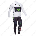 2013 Team Movistar Pro Bike Long Sleeve White Jersey Kit2013 Team Movistar Pro Bike Long Sleeve White Jersey Kit